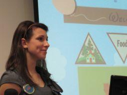 Chloe Jennings presenting website