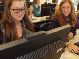 Girls at Computers